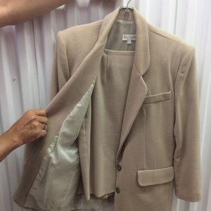 Ann Taylor Beige Wool Suit